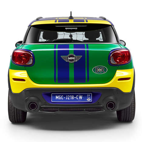 World Cup Vehicle Makeovers - MINI Unveiled Its Paceman GoalCooper for the 2014 World Cup in Brazil