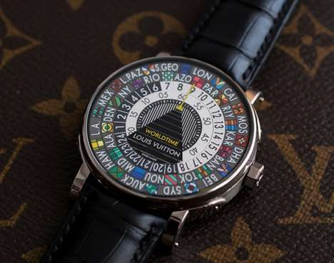 World City Designer Timepieces - Louis Vuitton's Escale Worldtime Watch Embodies Famous World Cities