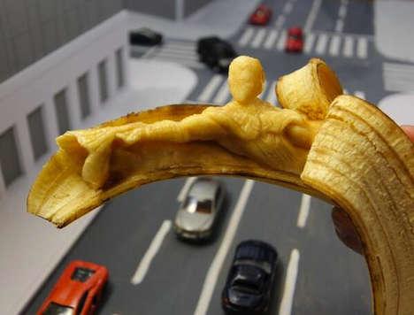 Epic Banana-Peeled Sculptures
