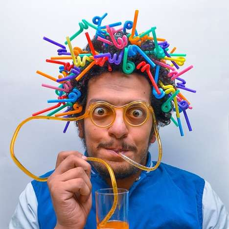 Outrageously Random Hairdos - Ahmad El-Abi Photographed Bizarre Everyday Items in His Hair