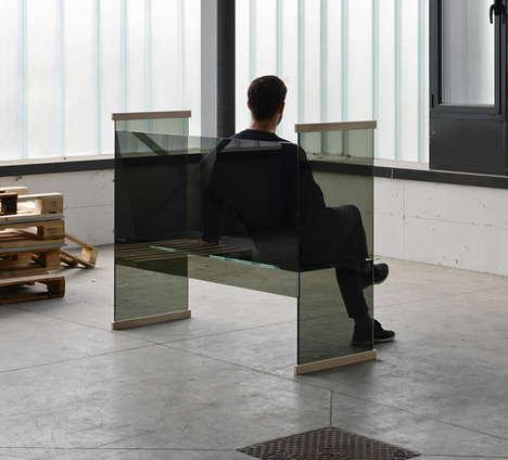 Transparent Glass Furniture Sets