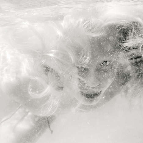 Grainy Underwater Portraits - Photographer Maria Stromvik Captures Daunting Submerged Portraits