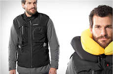 Lightweight Wearable Airbags - Motorcycle Safety and Style is Combined in the Inflatable Airbag Vest