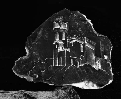 The Photos Present Etched Sand Castles Onto Particles of Sand