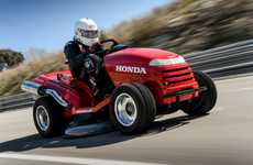 Speed Record-Breaking Lawnmowers - The Honda Mean Mower is the World's Fastest Lawnmover