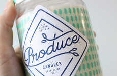 Food-Inspired Candle Packaging - The Produce Candles are Based on Popular Ingredients