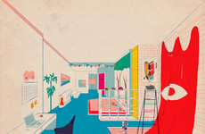 Retro Architectural Illustrations