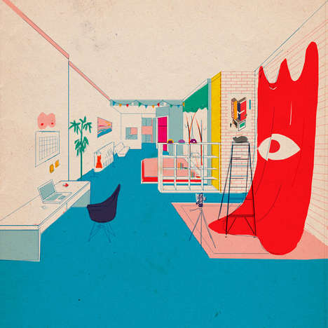 Mike Ellis's Bedroom Illustration Series is Curious and Charming