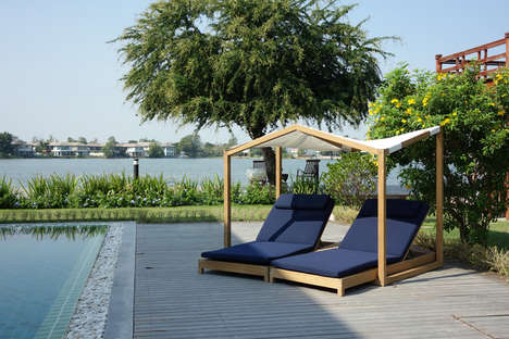 Butterfly-Inspired Canopy Loungers