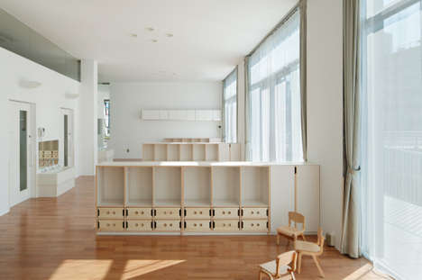Modernist Kindergarten Spaces - Day Nursery by Takeshi Yamagata Architects is Stark and Simpistic