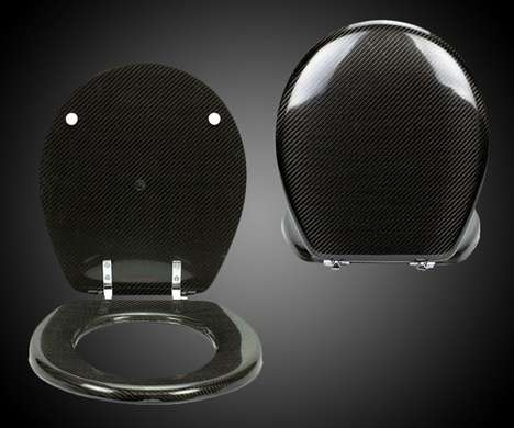 Carbon Fiber Toilet Seats - Carbon Fiber Gear Created a Durable Carbon Fiber Toilet Seat