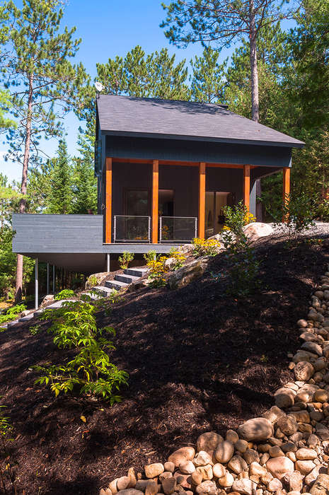 Isolated Modern Wood Getaways