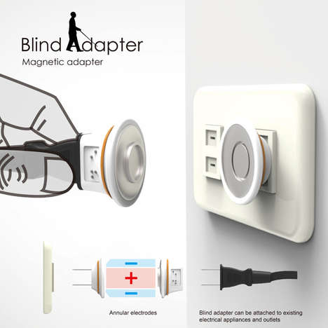 Visually Impaired Aid Adapters - The Blind Adapter Makes Connecting Appliances to Power Easier