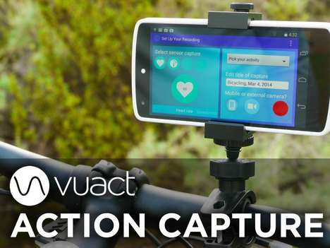 Sensor-Stimulating Recording Apps - The Vuact Action Capture Shares Your Movements Using Sensor Data