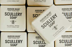 Artisanal Hipster Soap Branding - The Hudson Made Scullery Soap Design Packaging is Simple and Fresh