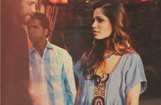 Indian Starlet Clothing Campaigns - Frieda Pinto Stars in the Free People Campaign