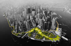 City-Shielding Projects - Bjarke Ingels Group is Proposing a Ribbon Shape to Protect Manhattan