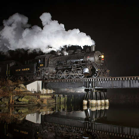 Illuminated Railroad Photography