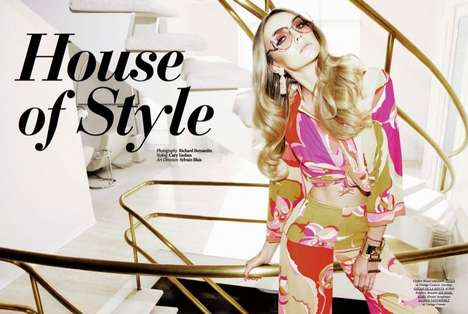 Glam 70s Housewife Editorials