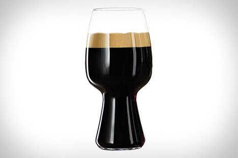 Tulip-Shaped Beer Glasses