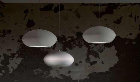 Stone-Like Suspended Lights