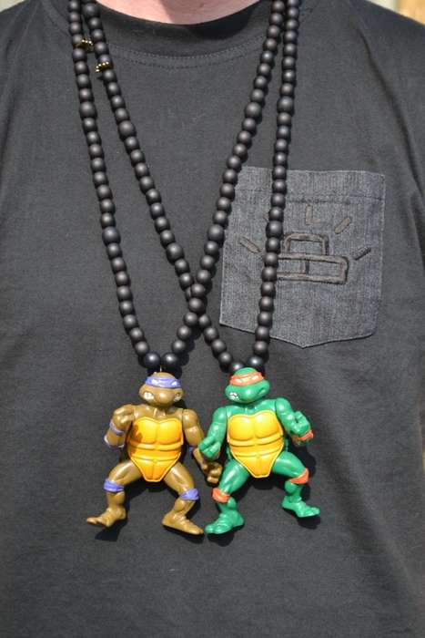 These Turtle Necklaces Arrived Just in Time for the TMNT 2014 Movie
