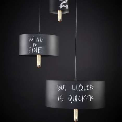 The Chalkboard Pendant by John Beck Steel Can Light Up Your Life