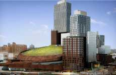 Plant-Covered Sports Stadiums - The Barclays Center Green Roof Makes Surrounding Area More Appealing