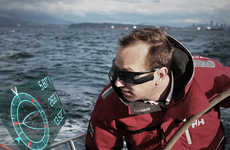 Virtual Boat Sailing Glasses - The Afterguard HUD Lets Sailors React in Record Time