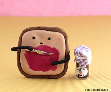 Personified Food Depictions - 'Cuddles and Rage' Created a Day in the Life of Your Favorite Foods
