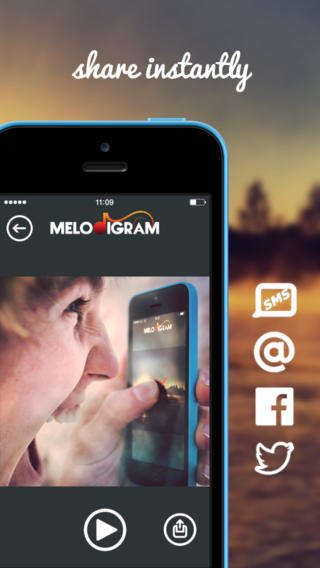 Embedded Sound Photo Apps - The Melodigram App Adds Sounds and Music to Photos