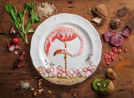 Avian Food Illustrations