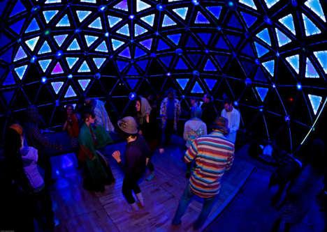 Interactive Dancing Domes