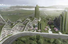 Ridged Apartment Architecture - Bjarke Ingels Group is Set to Build the Hualien Residences in Taiwan