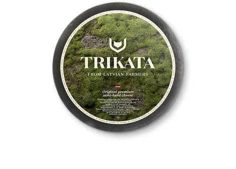 Naturalistic Cheese Wheel Branding