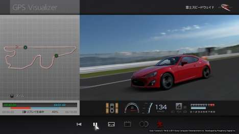 Reality-Infused Video Games - The Sports Drive Logger Infues Real Driver Data into a Video Game