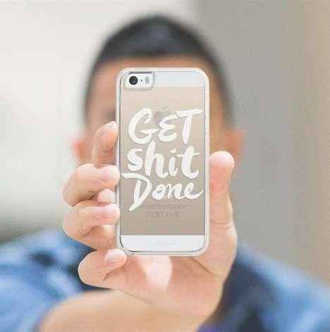 Ambitious Typographic Phone Cases