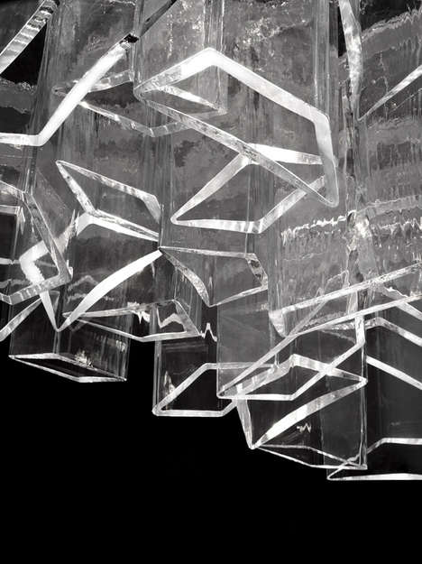 Icy Crystal Chandeliers