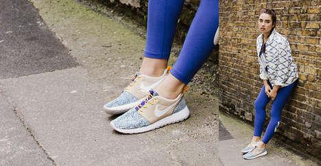 Floral Athletic Footwear