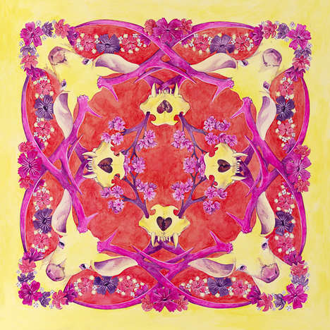 Intricately Painted Silk Scarves