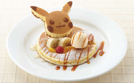 Anime Monster Pancakes - Denny's Japan Now Offers Tasty Pokemon Pancakes for Kids