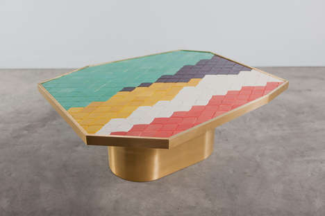 Colorfully Tiled Furniture