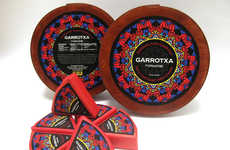 Mandala-Like Cheese Branding - Branding for Garrotxa Cheese Wheels Have a Stained Glass Pattern