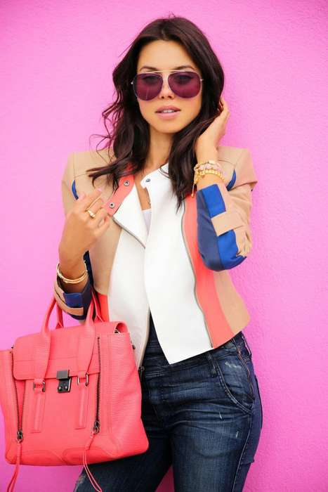 Work-Appropriate Denim Ensembles - VivaLuxury Gives Denim Overalls a Brand New Look