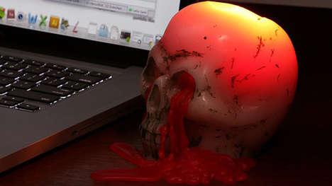 Gruesome Skeletal Candles