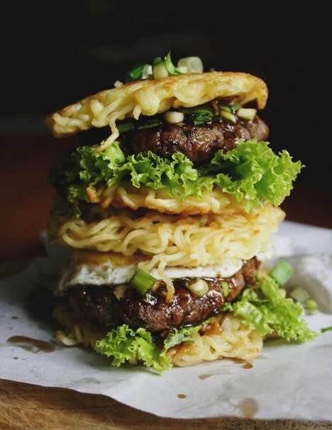 Mouthwatering Noodle Burgers