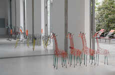 Wireframe Animal Sculptures - Marni Donna Took a Wild Route for Milan Design Week 2014