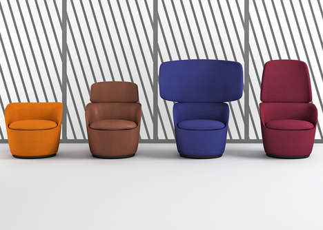 Vibrant Privacy-Inspired Chairs - Casamania's Winged Chairs Collection Debuted at Milan Design Week