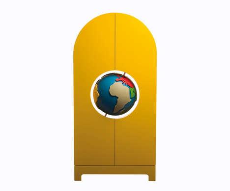 Globe-Centered Cabinets