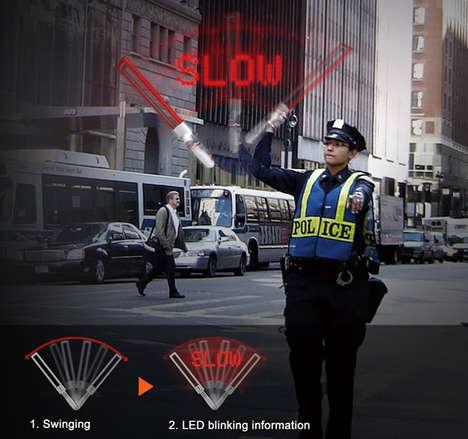 LED Traffic Batons